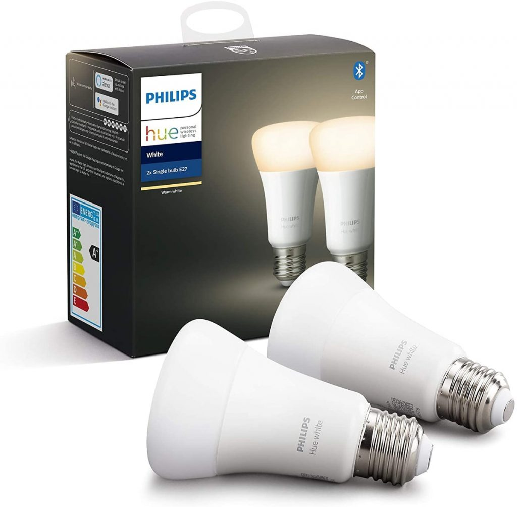 Philips Hue Pack de 2 Bombillas LED Inteligentes E27