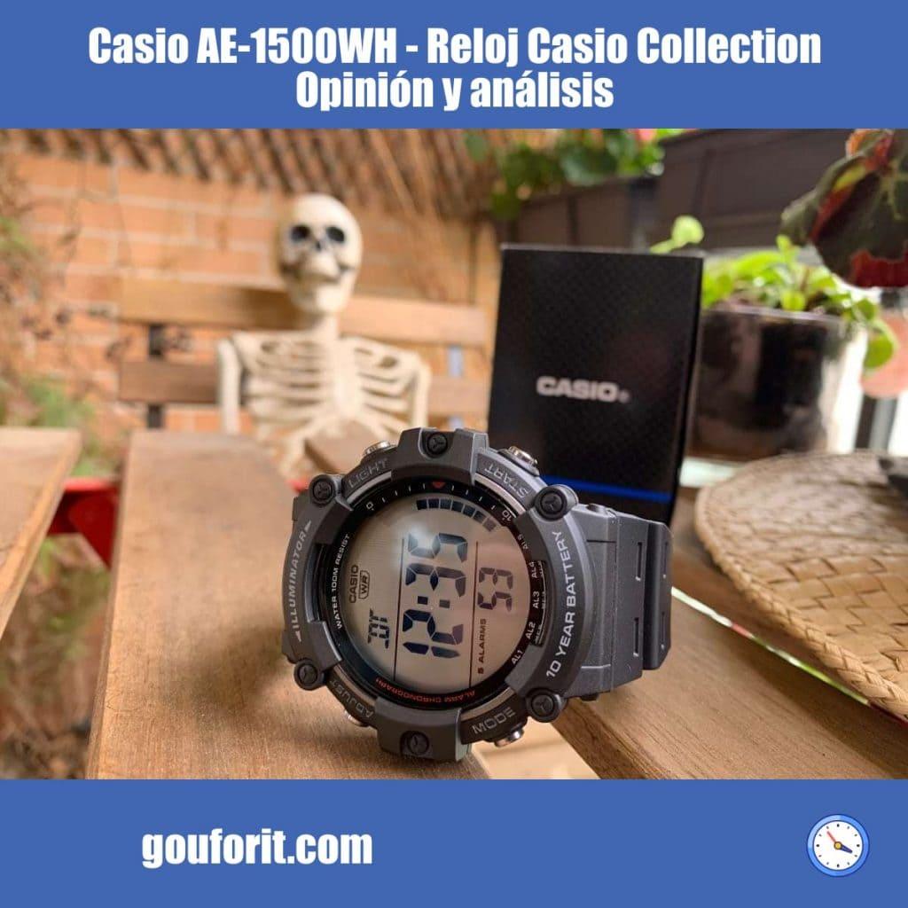 Casio AE-1500WH - Reloj Casio Collection con 10 años de batería y 100M WR - Opinión y análisis