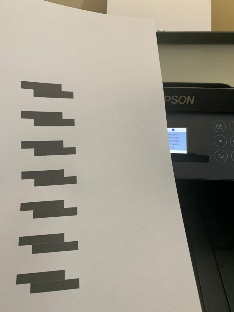Epson EcoTank ET-2750: calibracion
