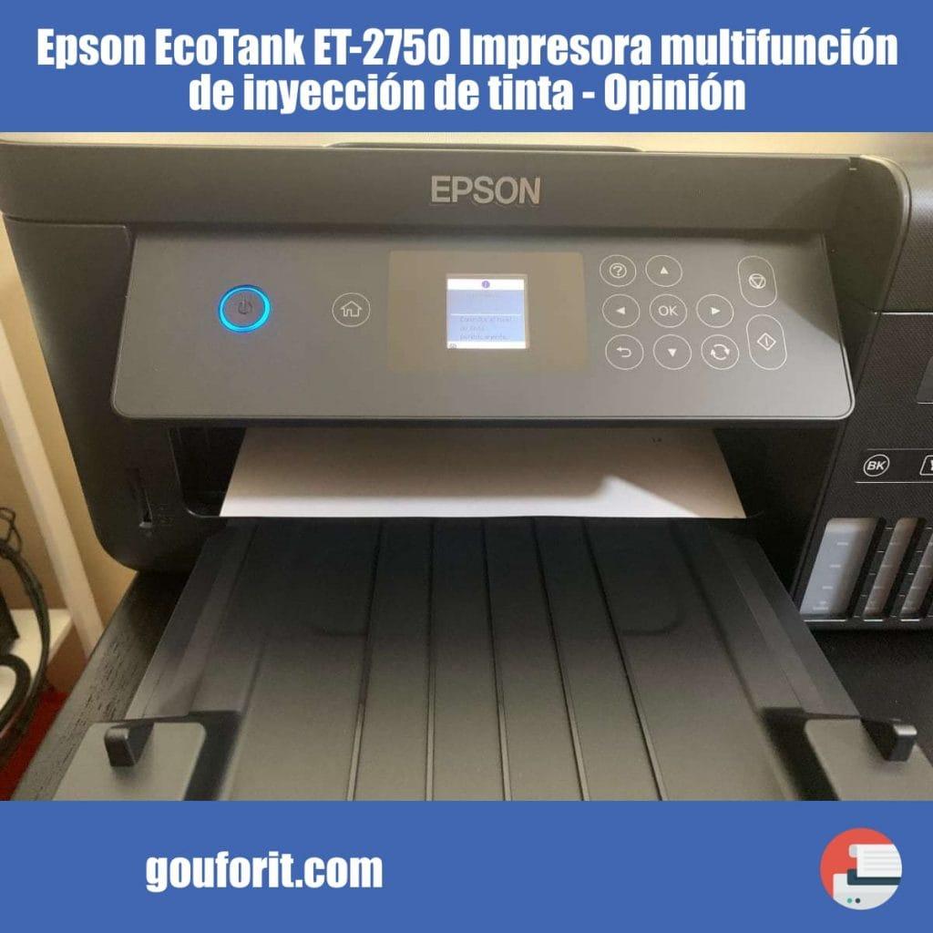 Epson EcoTank ET-2750 Impresora multifunción de inyección de tinta - Opinión y review