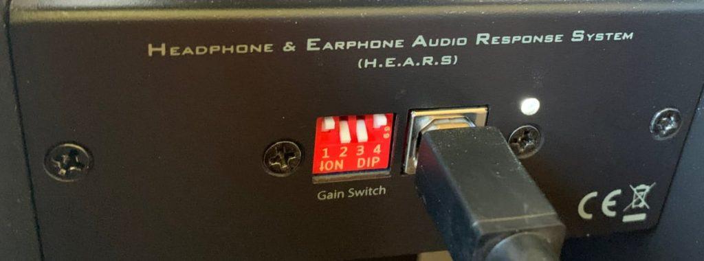 miniDSP EARS: configuración ganancia