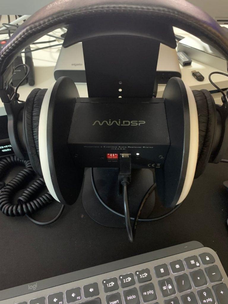 miniDSP-EARS: cmidiendo resultados auriculares Sony