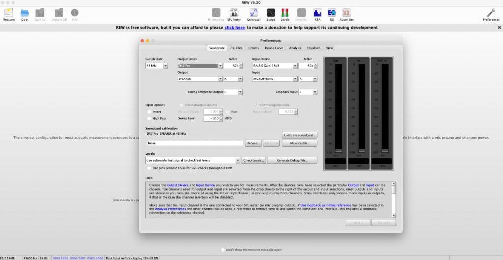 REW (Room EQ Wizard): configuración con miniDSP EARS