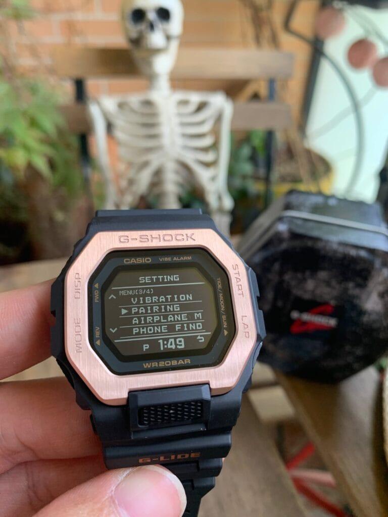 Casio G-Shock GBX-100:  vinculación app