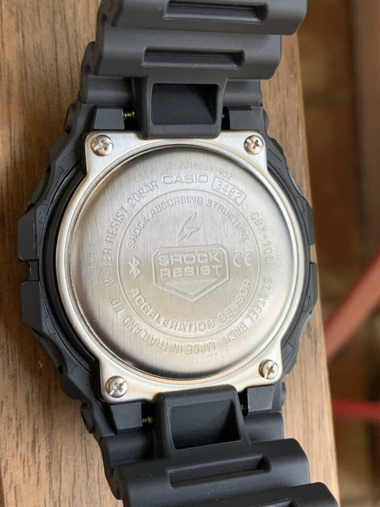 Casio G-Shock GBX-100: parte trasera