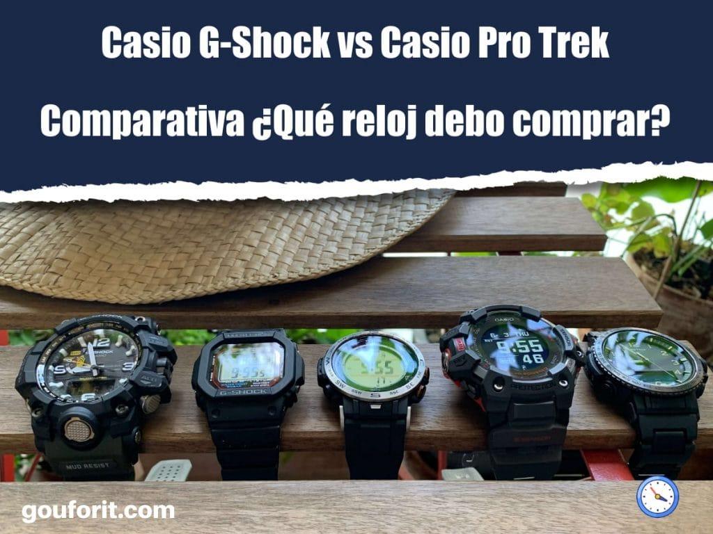 Casio G-Shock vs Casio Pro Trek: Comparativa ¿Qué reloj debo comprar?