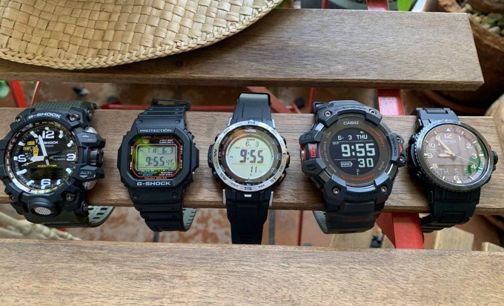 Casio G-Shock GWG-1000, G-Shock GW-M5610, G-Shock GBD-H1000 - Casio Pro Trek PRW-30 y Casio Pro Trek PRW-50
