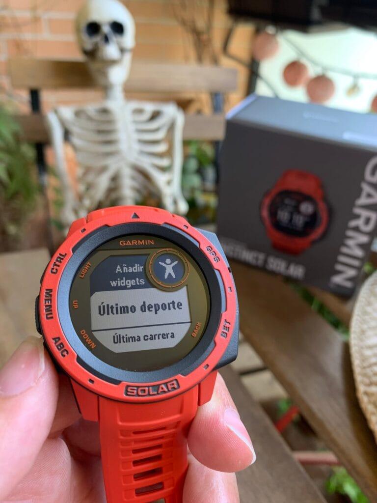Garmin Instinct Solar: medición de actividades deportivas