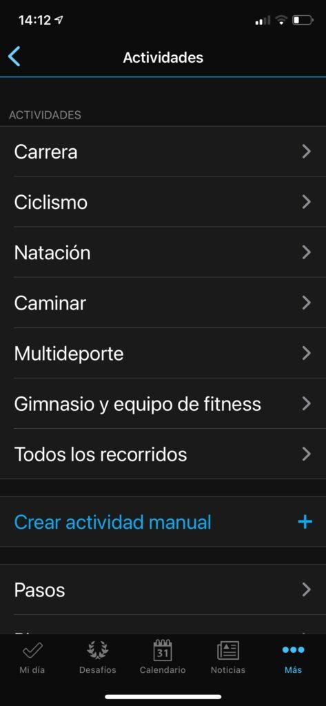 Garmin Instinct Solar: configuración actividades y reloj