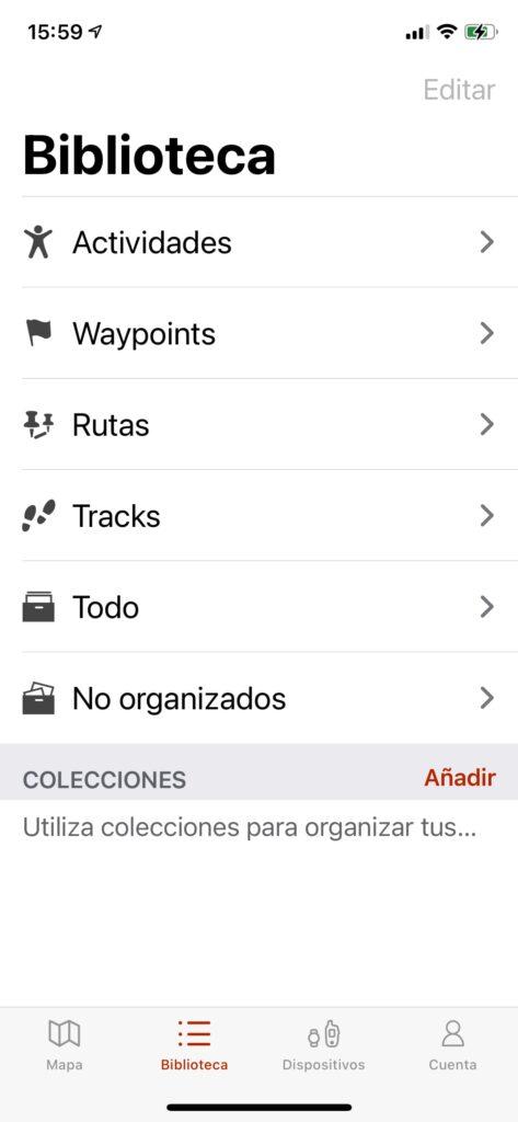 Garmin Instinct Solar: app Garmin explore