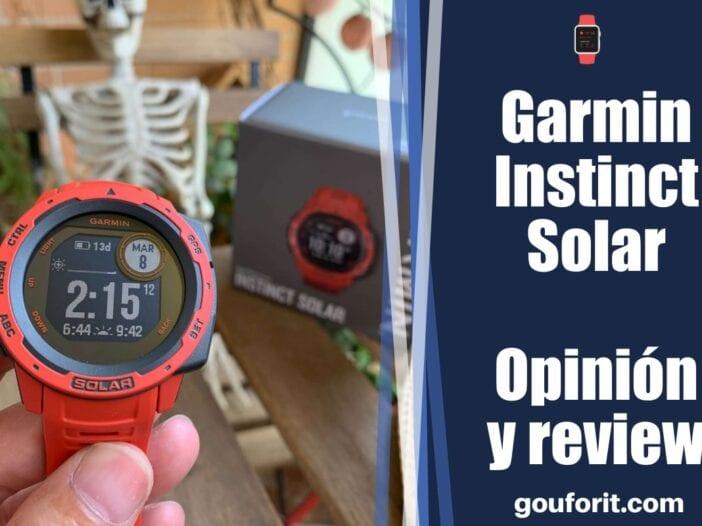 Garmin Instinct Solar: opinión y review - Reloj de aventura GPS con carga solar