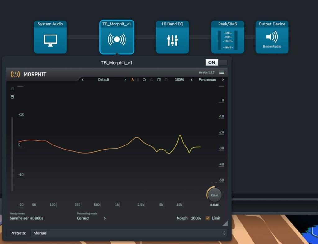 Sennheiser HD800S: ecualizador