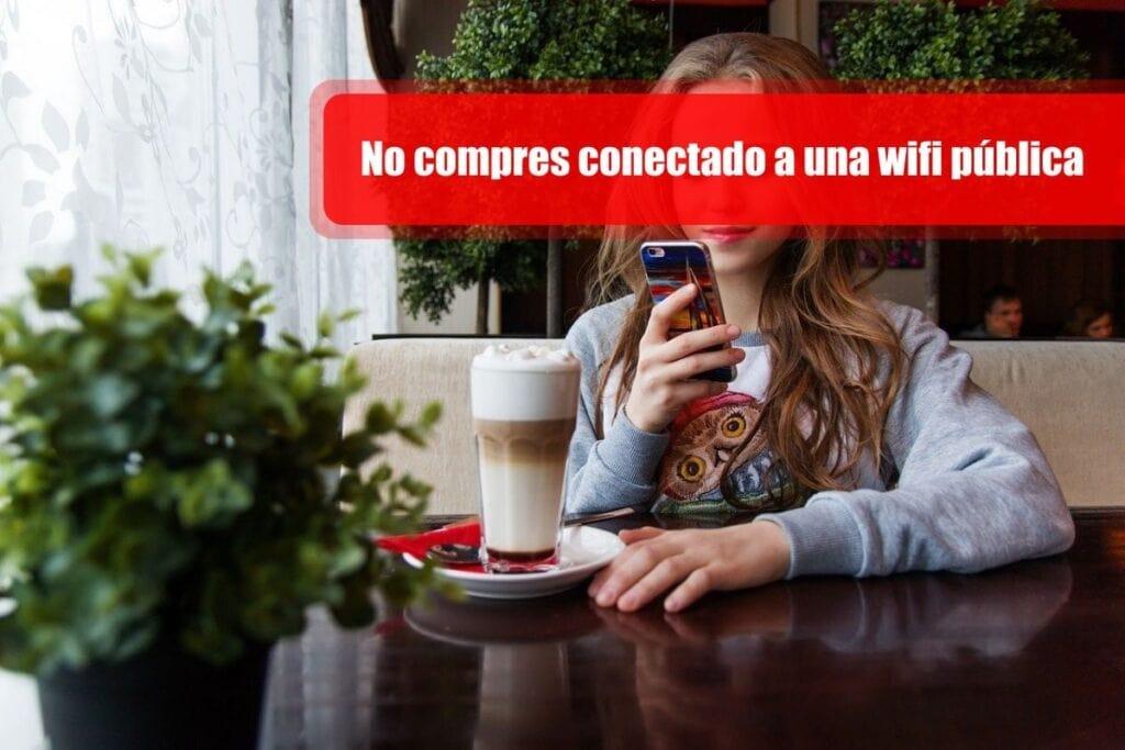 No compres conectado a una wifi pública