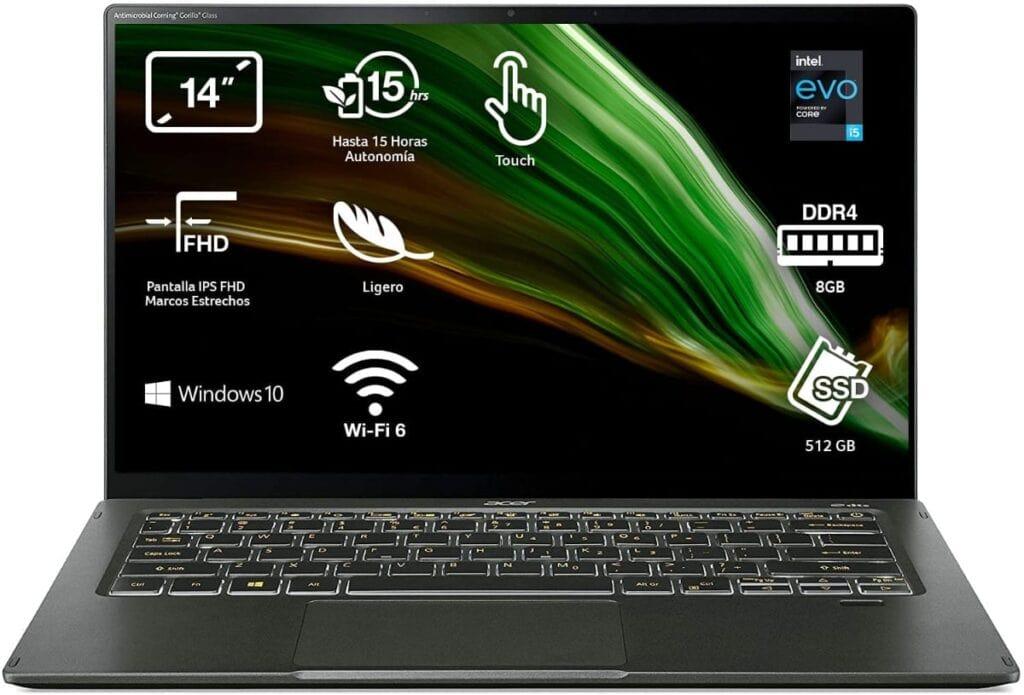 "Acer Swift 5 NU-SF514-55T-5001 - Ordenador Portátil 14"" Full HD"