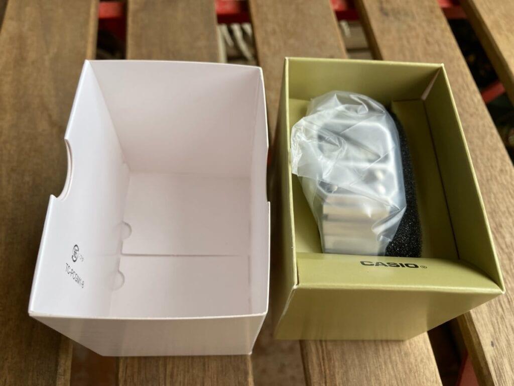 Reloj Casio A100 - paquete