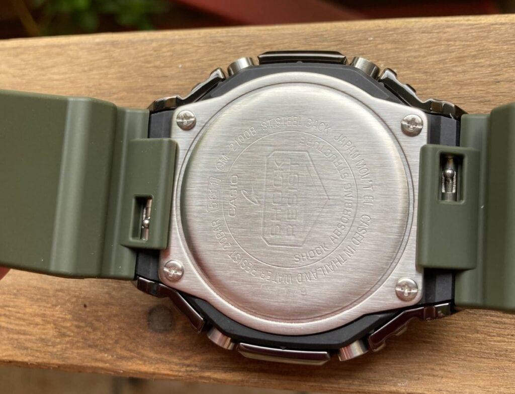 Casio G-Shock GM-2100B-3AER: parte trasera
