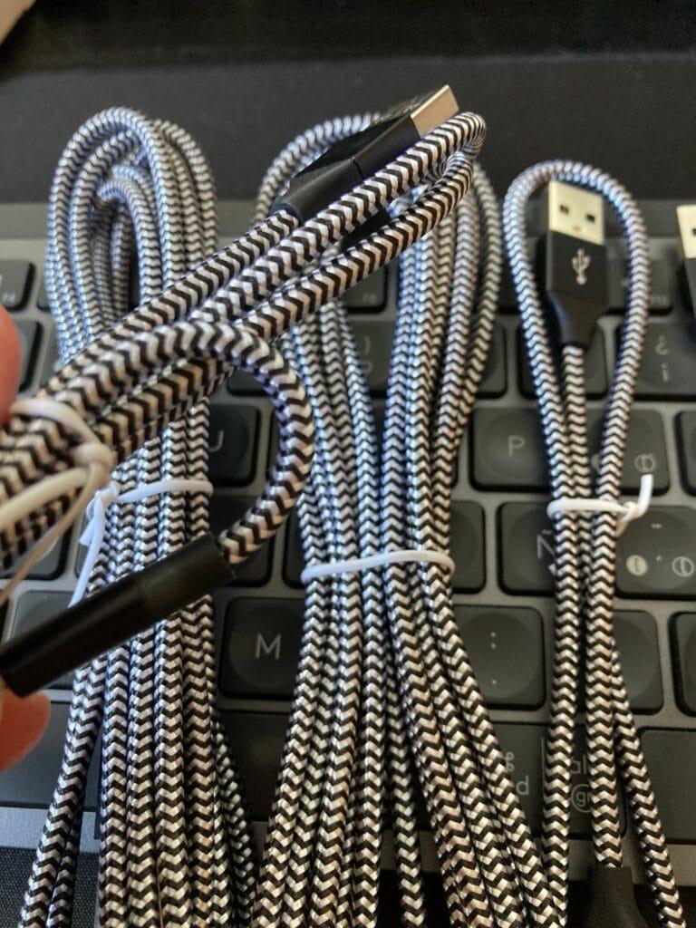 GIANAC: 5 cables Tipo C a USB 2.0 de Nilón